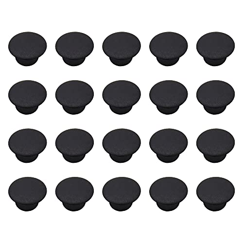 PLCatis - 100 Piezas Tapones Agujeros Muebles 8MM Tapones Plásticos Redondos para Agujeros Tapas Redondas para Ocultar Agujeros - Negro