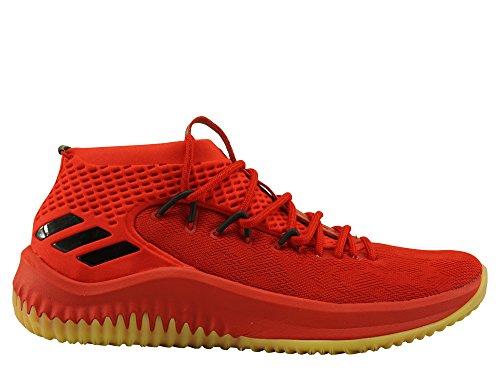 adidas Dame 4, Zapatos de Baloncesto Hombre, Rojo (Scarle/Hirere/Cblack Scarle/Hirere/Cblack), 48 2/3 EU