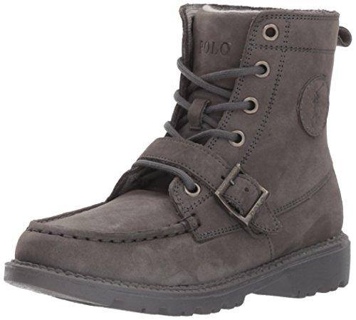Polo Ralph Lauren Kids Boy's RANDEN Fashion Boot, Navy Denim/Chocolate, 3 Medium US Little Kid