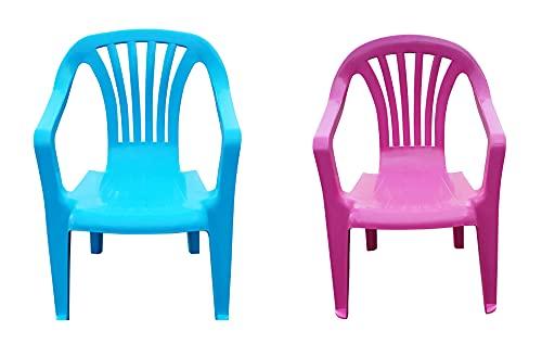 Kinder Gartenstuhl Stapelstuhl Kinderstühle Kindersessel Monoblock Farbe wählbar (Blue)