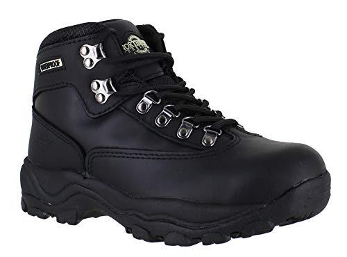 Ladies Peak LACE UP Premium Leather Upper Waterproof Walking Hiking Trekking Boot (UK6, Black)
