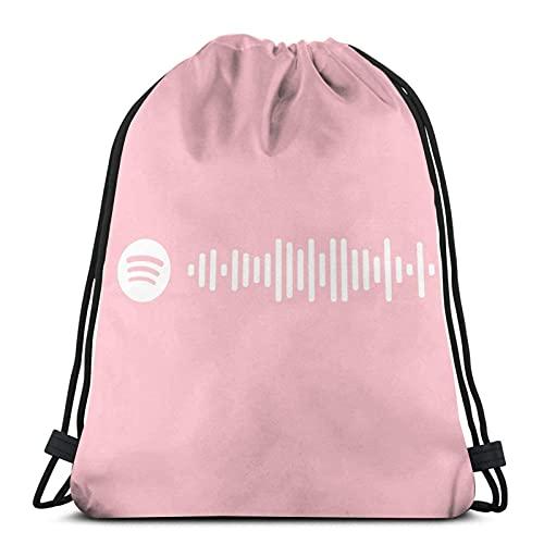 Dancing By Meryl Streep De Mamma Mia Soundtrack Pink Spotify Code (más colores disponibles en la tienda) Sudadera con capucha Drawstg Bag Sports Fitn Bag Bolsa de viaje Bolsa de regalo