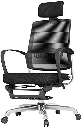 GSN Silla Silla de oficina con respaldo alto de malla de escritorio silla reclinable Inicio almuerzo 250kg Rotura de la oficina silla multifuncional apoyo for la cabeza de malla transpirable que sopor