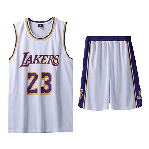 Herren Basketball Uniform James 23# Lakers Cavs Trikot, Jugend Trikot Anzüge, Weiche Shorts Schwarz, Weiß Sportswear Retro Sport Trikots, Mehr Größen Mehr Farben, Street Dance Hip Hop Freizeit Sp