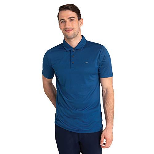 Calvin Klein Herren Poloshirt, kurzärmelig, gestreift, Herren, Poloshirt, Shadow Stripe Polo, Ocean Marl, XX-Large