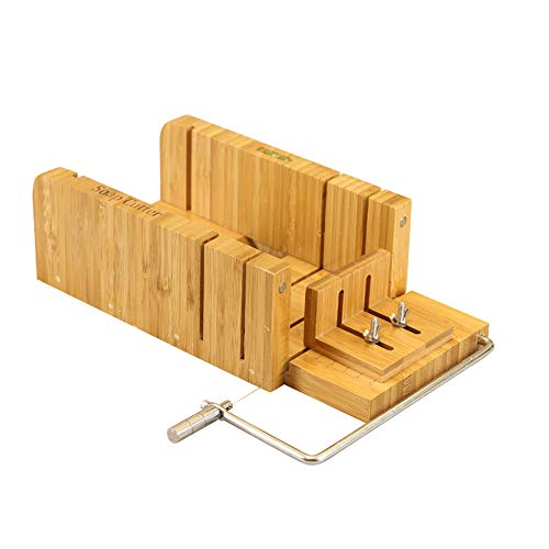 RoseFlower Multi-Function Practical Adjustable Handmade Wood Soap Cutter Cheese Board with Wire Cutter Slicer for Handmade Soaps and Candles Trimming DIY Soap Making Tools#1