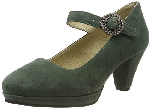 Stockerpoint Damen Schuh 6006 RiemchenPumps, Grün (Dunkelgrün), 36 EU