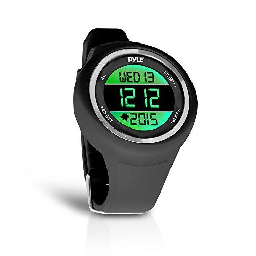 Pyle Multifunction Sports Training Wrist Watch - Smart Classic Sport Running Digital Fitness Gear Tracker w/ 3D Sensor Pedometer, Timer, Alarm, Removable Strap, for Men and Women PATW19BK (Black)