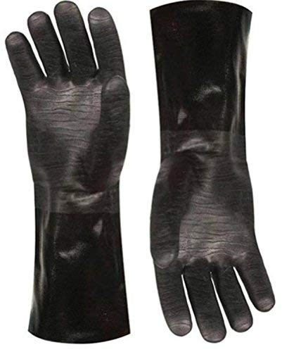 """Artisan Griller BBQ Heat Resistant Insulated Smoker, Grill, Fryer, Oven, Brewing, Cooking Gloves. Great for Barbecue/Frying/Grilling – Waterproof, Fire&Oil Resistant Neoprene-1 pair (Size 10/XL - 14"""")"""