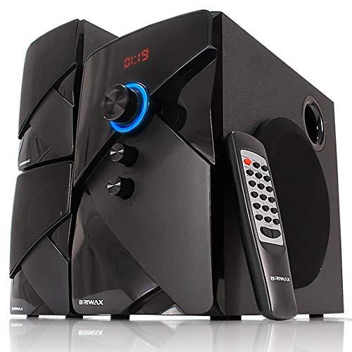 Home Theater Caixa Som 50W Bluetooth, USB, Cartão MIcroSD Subwoofer TV Efeito Cinema em Casa