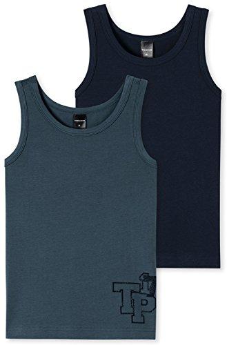 Schiesser Jungen Multipack 2Pack Shirts 0/0 4007064747885, Mehrfarbig (Sortiert 901), 164 (2er Pack)