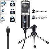 YMJJ Micrófono USB micrófono de grabación de Condensador de PC portátil para podcasts transmisiones de Video Chat