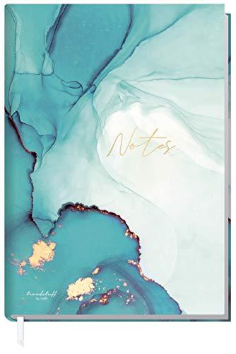 Trendstuff by Häfft - Cuaderno (A5, cuadriculado, 126 páginas, ideal como diario, libro de ideas, cuaderno de escritura, climáticamente neutro, sostenible