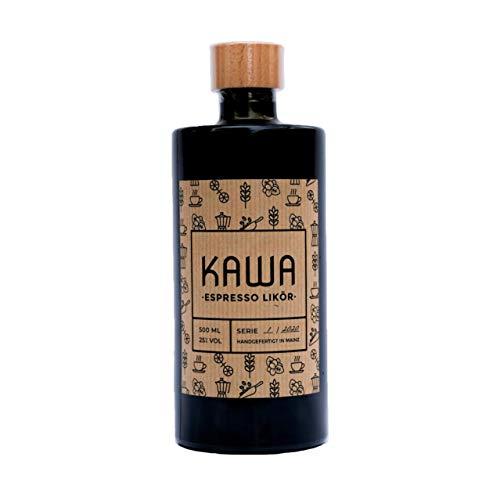 KAWA ESPRESSO LIKÖR | Aromatischer Kaffeelikör | 500ml | 25% Alkohol | Feine Spirituose | Ideal als Geschenk für Kaffee Liebhaber