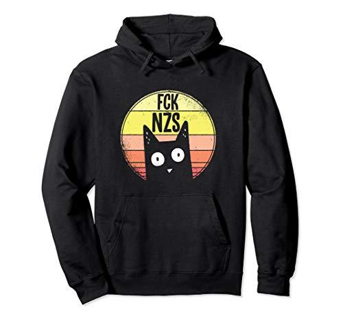 FCK NZS Süße Katze | Gegen Rassismus Faschismus Fck Nzs Pullover Hoodie