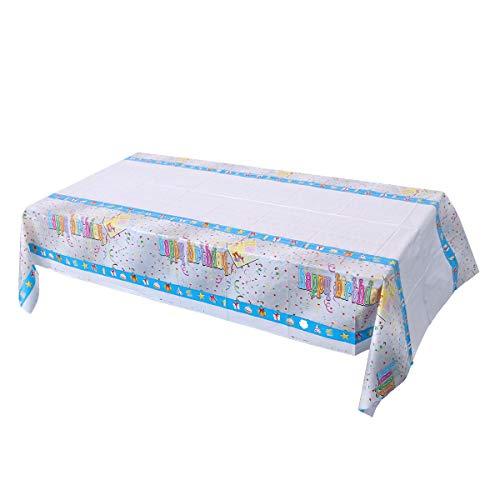 VOSAREA Feliz cumpleaños manteles Desechables plástico Mesa de Picnic Cubiertas de Lino de Mesa