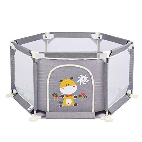 YYHSND Kinderhaus Innen Zaun Baby Zaun Sicherheit Baby Krabbeln Matte Shatterproof Leitplanke Ball Pool Kinderschutz (Color : Gray-H-73CM)