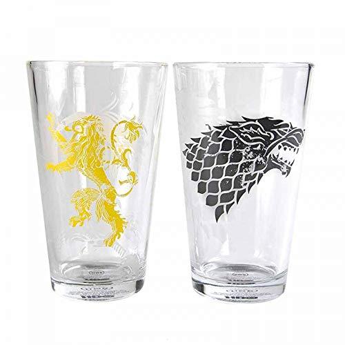 Game Of Thrones Tronos Vasos Grandes (Juego de 2) -Stark and Lannister,...