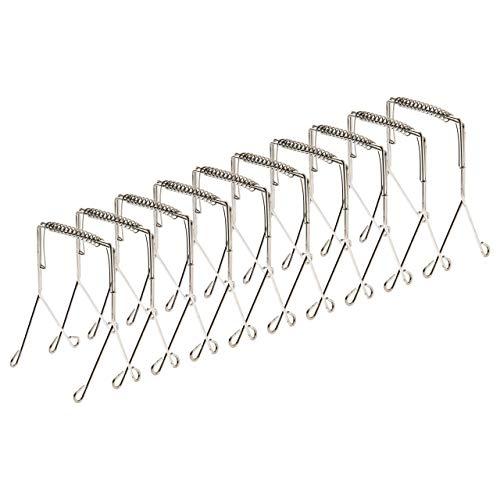 Rostfrei [10er Set] Rouladenklammern aus Edelstahl wiederverwendbar 10er Set, Rouladen Klammern als perfekte Alternative zu Rouladennadeln oder Rouladenspieße [10 Stück]
