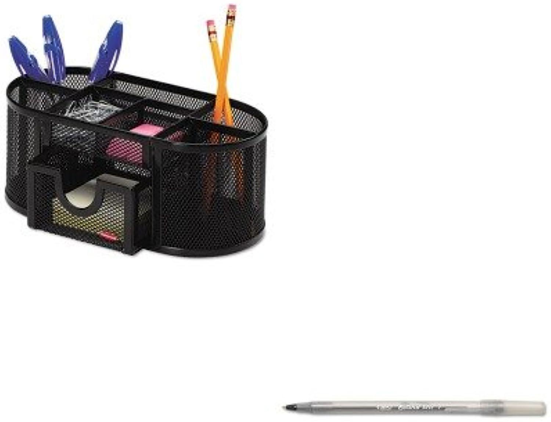 KITBICGSF11BKROL17466 – Vorteilsset – BIC Round Stic Kugelschreiber (BICGSF11BK) und Rolodex Mesh Pencil Cup Organizer (ROL1746466) B00MOP2IT0 | Authentisch