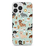 iPhone 13 Pro Max Case Dachshund Coffee Latte Dachsie Doxie Dog Protection Shockproof Microfiber Protective Cover Case for iPhone 13Pro Max 6.7Inch