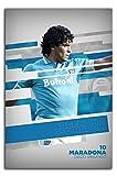 ARYAGO RIP Diego Maradona - Póster deportivo moderno (61 x 91,4 cm), diseño de jugador de fútbol argentino