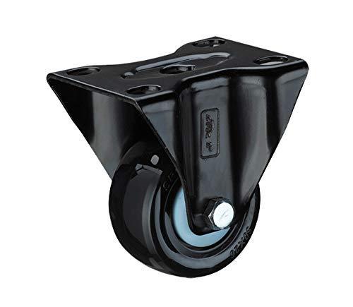 ZXL wielen zwart PU universele wiellager Silent Wear trolley 4 stuks