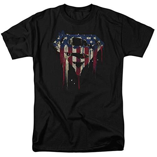 Popfunk Superman Logo S Shield American Flag Paint T Shirt & Stickers