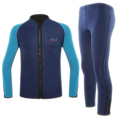 Ouzhoub Robuster Neoprenanzug, Erwachsene 2 mm Split Zweiteilige Wetsuit Schnorcheln Anzug Surf Anzug Canyoning Warm (Color : Navy, Size : XXL)