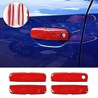 Pulidi ダッジ チャージャー 2010+ 適用 カーアクセサリー ABS ドアハンドル装飾カバーステッカー ドアハンドル保護カバー 外装 自動車 Dodge Charger用