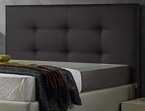 ED Cabecero Cama tapizado Polipiel Mod. Texas Todas Las Medidas y Colores (Negro, 135 * 70)