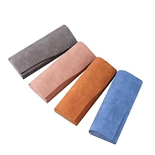FACHA Caja de gafas de sol para mujer, diseño clásico, retro, color sólido, caja de protección para gafas de sol (color: 4 unidades, tamaño: 16 x 6,5 x 3,3 cm)