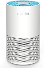 PURITIX Air Purifier with True HEPA, 23dB Quiet Desktop Home Air Purifiers with Timer, Child Lock for Smoke, Dust Pet Dander, Odors