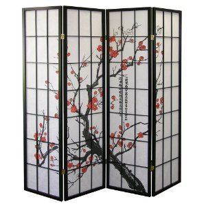 Cherry Blossom Design Room Divider 4 Panel