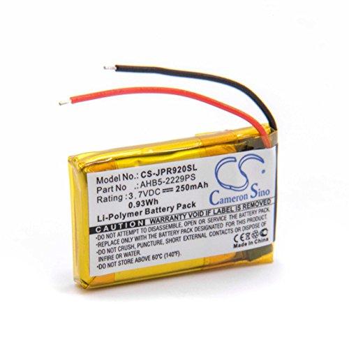 vhbw Li-Polymer batería 250mAh (3.7V) para Auriculares Jabra Pro 900, 920, 923, 930, 935 por AHB5-2229PS