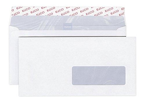 Elco 60289 500 Stück Briefumschläge mit Fenster, Format C5/6 weiß