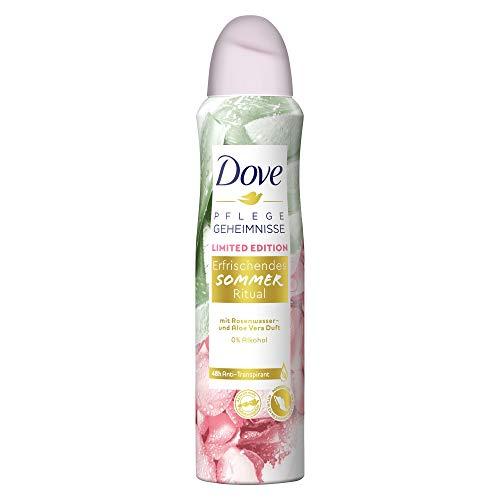 Dove Pflegegeheimnisse Anti-Transpirant-Spray Erfrischendes Sommer Ritual mit Aloe Vera - und Rosenwasserduft, 6er Pack (6 x 150 ml)