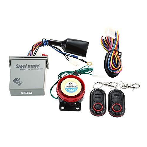Steelmate 986E - Alarma de motocicleta con mando a distancia para arranque de motor con mini transmisor para BULTACO