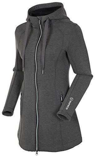 Sunice Bobbie Damen Hoodie Softshell Zip Up Jacke mit Wärmeisolierung, Damen, Schwarz Melange, X-Large