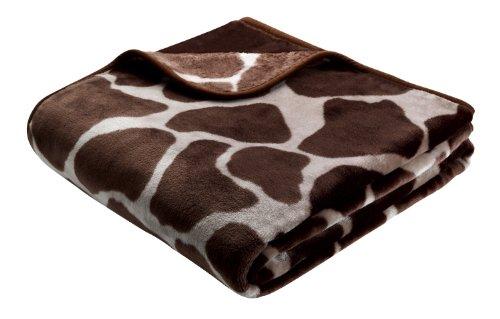 Bhome Biederlack De Luxe Decke/ Überwurf, 220x240cm, Giraffe