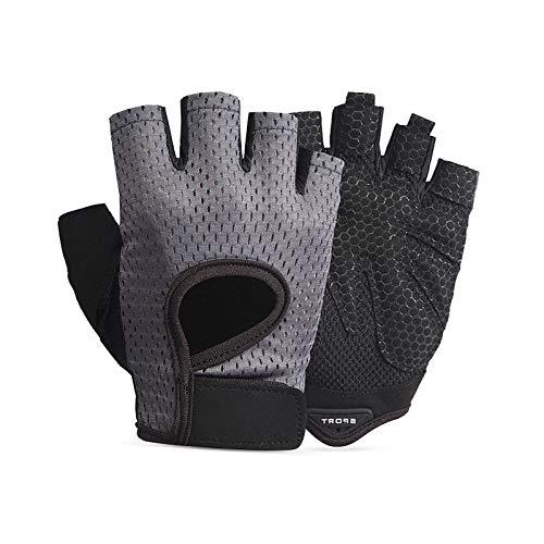 Gwotfy Guanti mezze dita per bambini, guanti protettivi sportivi per bambini, guanti protettivi per sport allaria aperta per bambini, guanti da bicicletta, guanti da ciclismo mezze dita per bambini