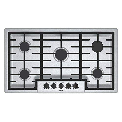 Bosch 500 Series 36' Stainless Steel 5 Burner Gas Cooktop