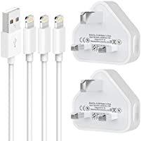 MBYY phone charging plug,MFi Certified 3.1FT*3PACK Phone Cable and 2Pack USB Plug Wall Charger for Phone 12 Pro/11Pro /...
