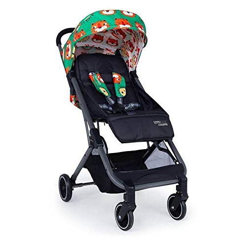 Cosatto UWU Mix Pushchair – Compact City Stroller - Suitable from Birth to Toddler, Easy Fold, Pull Along Handle (Easy Tiger)