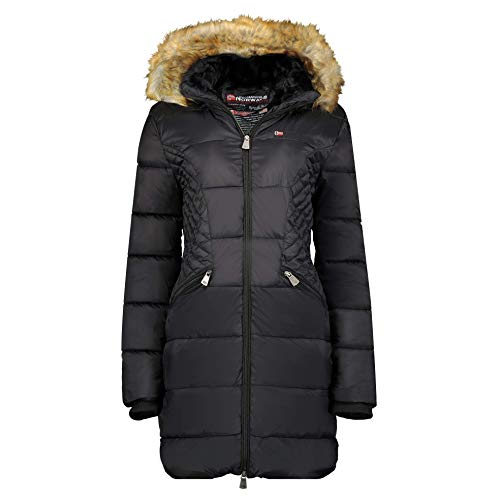 Geographical Norway Damen Steppjacke Winterparka Abby Kapuze Black M