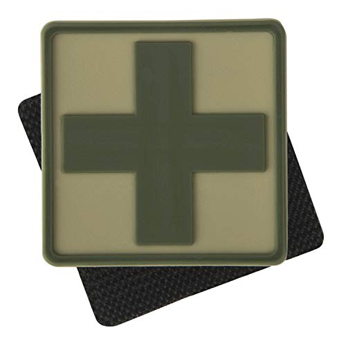 Helikon-Tex Medic Cross Patch - Khaki, OD-MED-RB-13