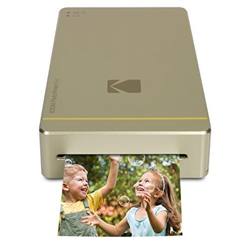 Kodak Mini-Mobil W-LAN & NFC 4.7 x 7,5 cm Fotodrucker mit fortgeschrittener Sublimations-Tintendrucktechnologie & Fotokonservierungsschicht (Gold) Kompatibel mit Android & iOS.