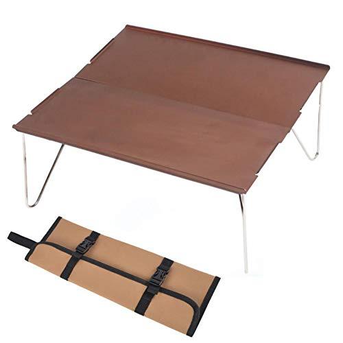 Mesa plegable de aluminio ultraligera con bolsa de almacenamiento para picnic en casa