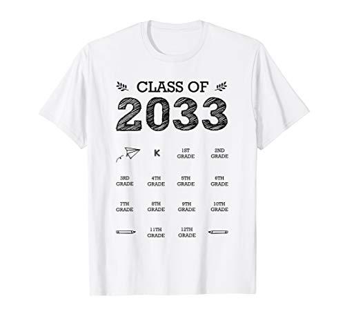 Class of 2033 Graduation T-shirt Handprints Grow With Me T-Shirt