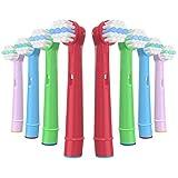YanBan Cabezales de Cepillo de Dientes para Cepillo de Dientes Eléctrico Oral b Kids, Paquete de 8 Cabezales de Cepillo de Dientes Eléctricos para Braun, Cabezales de Cepillo de Repuesto para Niños